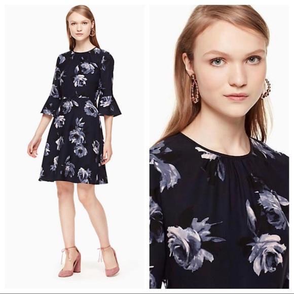 kate spade Dresses & Skirts - Kate Spade Night Rose Crepe Dress